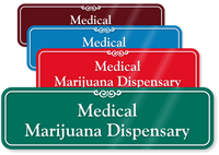 Medical Marijuana Dispensary ShowCase Sign, 3in. x 10in.