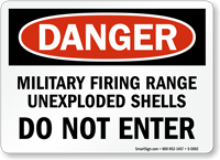 Military Firing Range Do Not Enter Sign