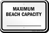 New York Maximum Beach Capacity Sign
