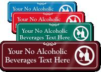 No Alcoholic Beverages Symbol Sign