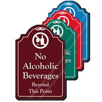 No Alcoholic Beverages ShowCase Sign