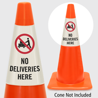 No Deliveries Here Cone Collar
