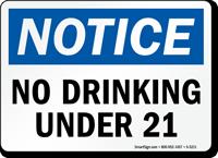 No Drinking Under 21