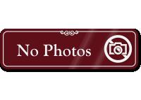 No Photos Designer Sign