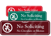No Soliciting Graphic ShowCase™ Wall Sign