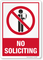 No Soliciting Security Sign