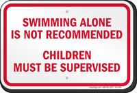Ohio No Swimming Alone Sign