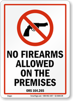 Oregon Firearms And Weapons Law Sign
