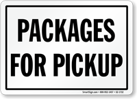 Packages For Pickup Sign