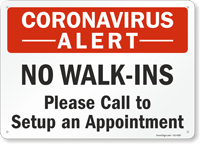 Please Call to Setup an Appointment Retail Service Sign