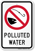 Polluted Water Sign