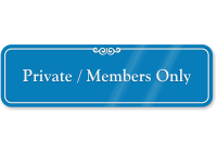Private Members Only Pool Rules ShowCase Wall Sign