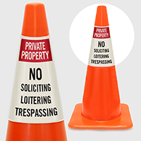 Private Property No Soliciting  Trespassing Cone Collar