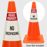 Private Property No Trespassing Cone Collar
