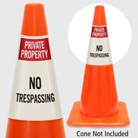 Private Property No Trespassing Cone Collar