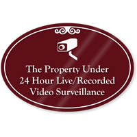 Property Under Video Surveillance ShowCase Sign