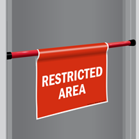 Restricted Area Door Barricade Sign