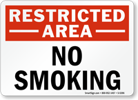 Restricted Area No Smoking