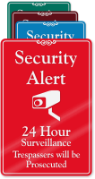 Security Alert, 24 Hour Surveillance Wall Sign