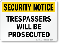 Security No Trespassing