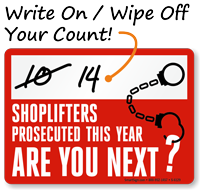 Shoplifting Sign