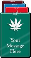 Custom Showcase Dispensary Sign With Marijuana Leaf