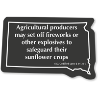 Agricultural Producers South Dakota Novelty Law Sign