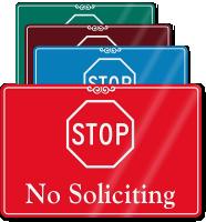 STOP No Soliciting ShowCase Wall Sign