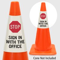 Stop Sign In With The Office Cone Collar