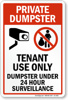 Tenant Use Only Sign
