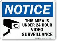 Notice This Area Under Video Surveillance Sign