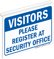 Visitors Please Register At Security Office