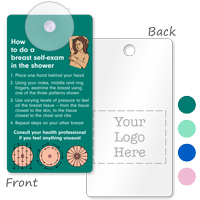 2-Sided Breast Self-Exam Suction Cup Tag