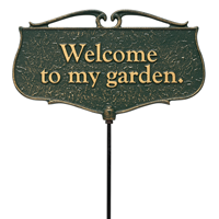 Welcome To my Garden Accent Sign