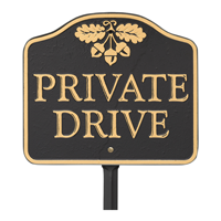 Private Drive GardenBoss Estate Plaque