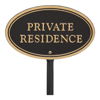 Private Residence Oval Plaque
