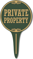 Private Property Lawn Stake Sign