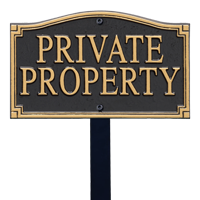 Private Property Statement Plaque