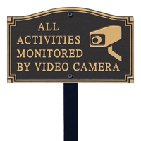 All Activities Monitored Statement Lawn Plaque