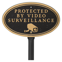 Video Surveillance Oval Plaque