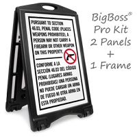 Firearms Or Other Weapons Prohibited Texas Gun Law Sign - Section 46.03