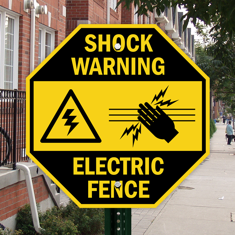 Electric Fence With Graphic Sign, SKU