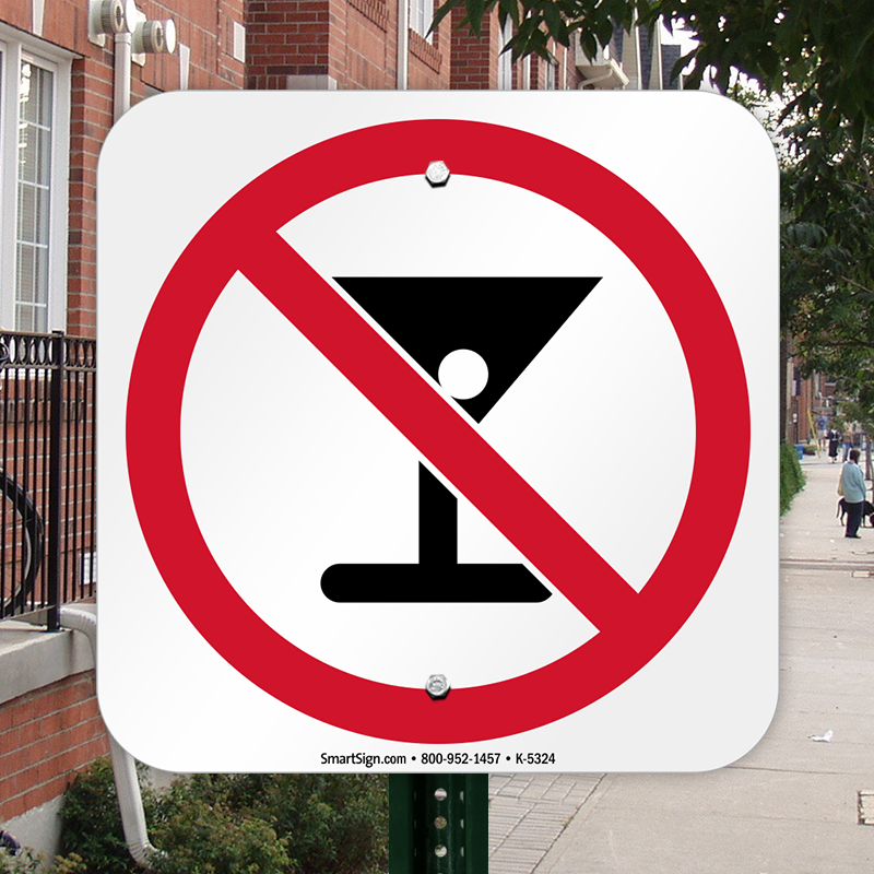 No Drinking Symbol Sign