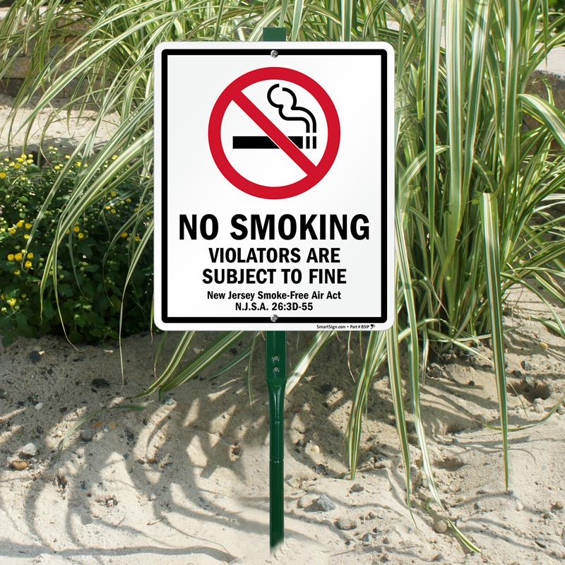 new jersey smoke free act sign no smoking signs sku k 9489 nj