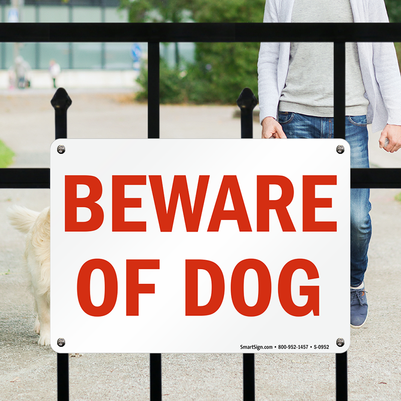 Beware Of Dog Signs Door Gate Signs Sku S 0952