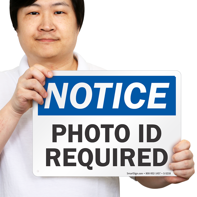bar signs photo id required sku s 5218 rh mysecuritysign com