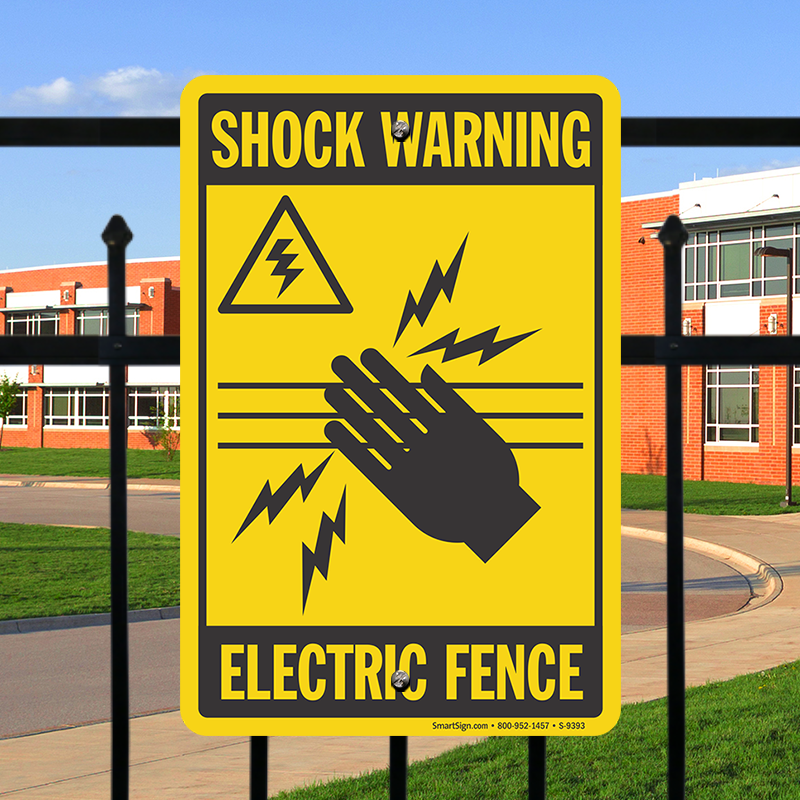 Shock Warning Electric Fence Sign