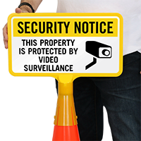 Security Notice Video Surveillance ConeBoss Sign