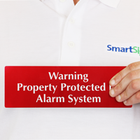 Warning Property Protected Alarm System Sign
