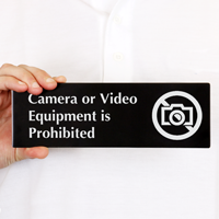 Camera Or Video Equipment Prohibited Sign